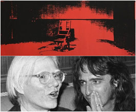 Andy Warhol with Alice Cooper