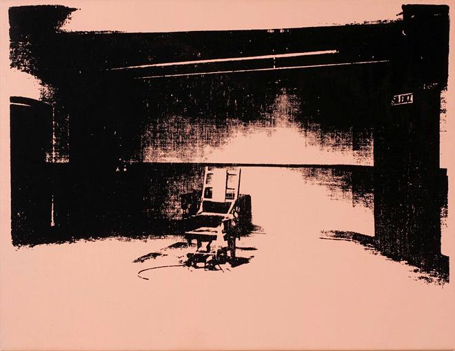 Warhol - Little Electric Chair, Salmon
