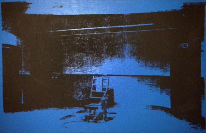 Warhol - Little Electric Chair, Blue