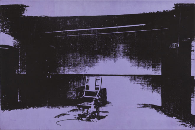 Warhol - Little Electric Chair, Lavender