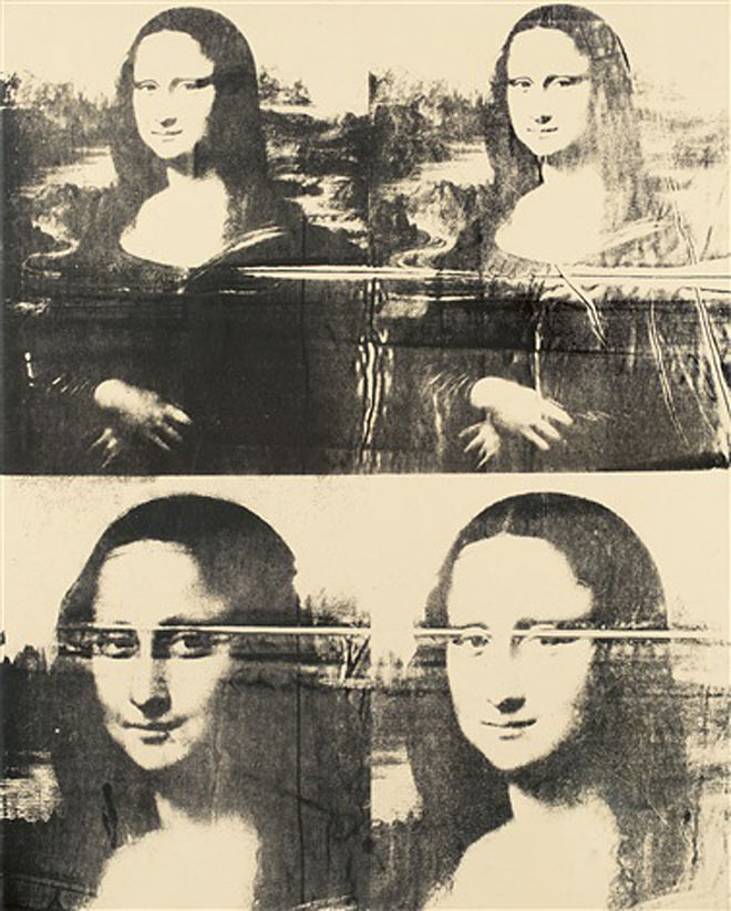 Warhol - Mona Lisa Four Times